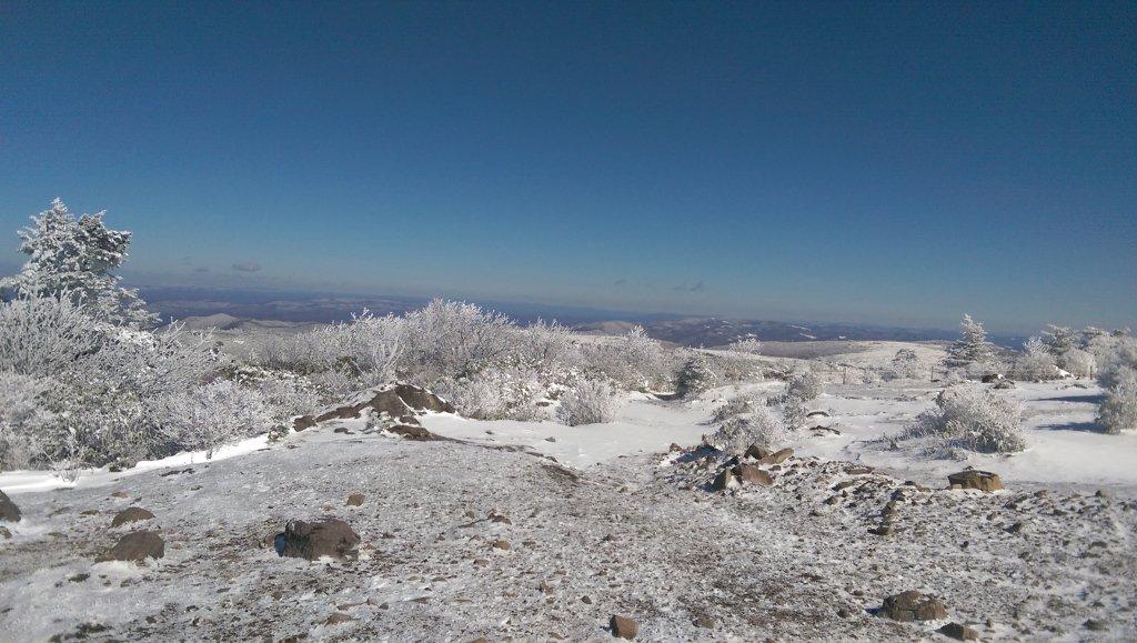 Frozen landscape for taking cold showers